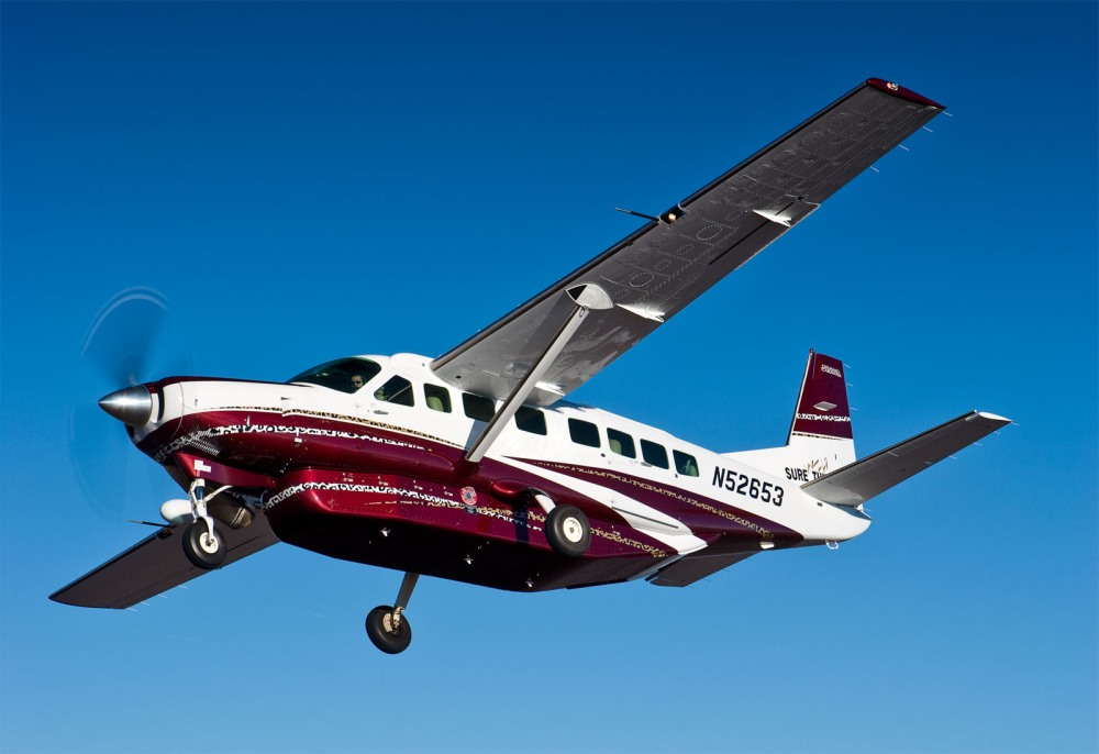 Image of a TKS equipped Grand Caravan in flight