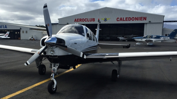 On ramp at New Caledonia Magenta airport by NC Aero Club
